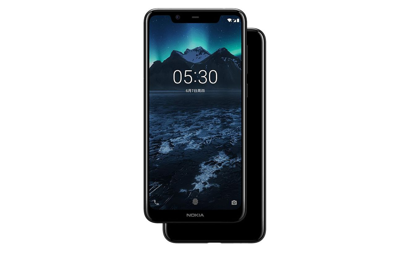 the nokia x5 predictably has a notch and dual cameras