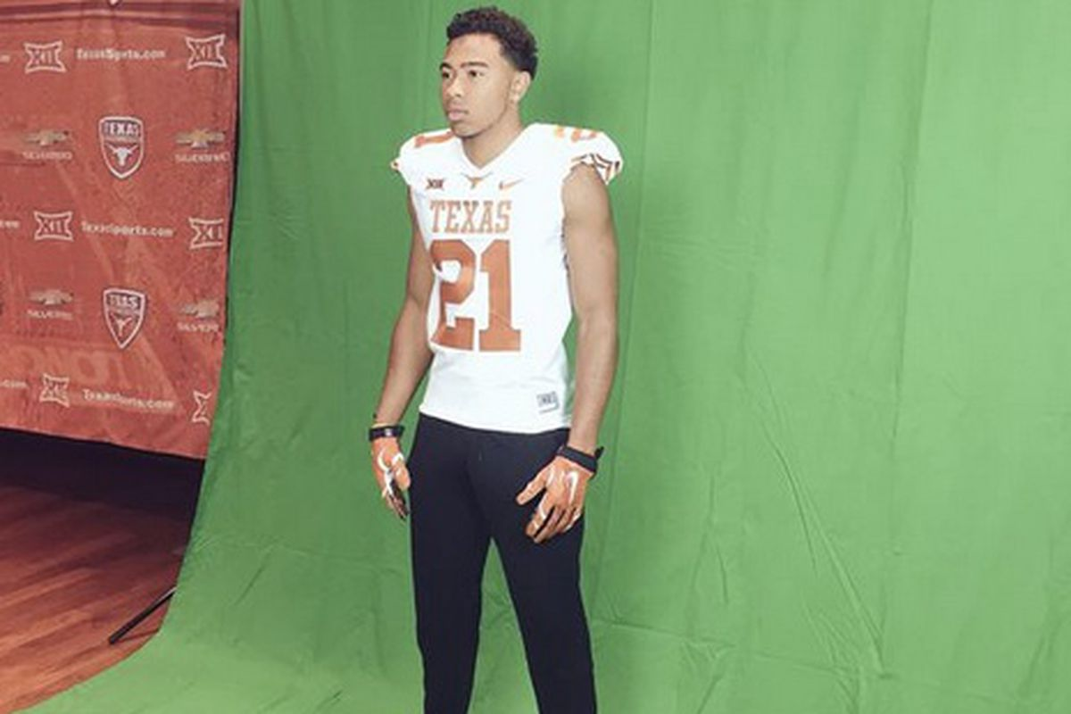 Eric Cuffee at the Texas Junior Day