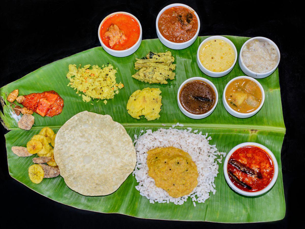 Vegetable thali at Thattukada in East Ham, one of London's best-value restaurants