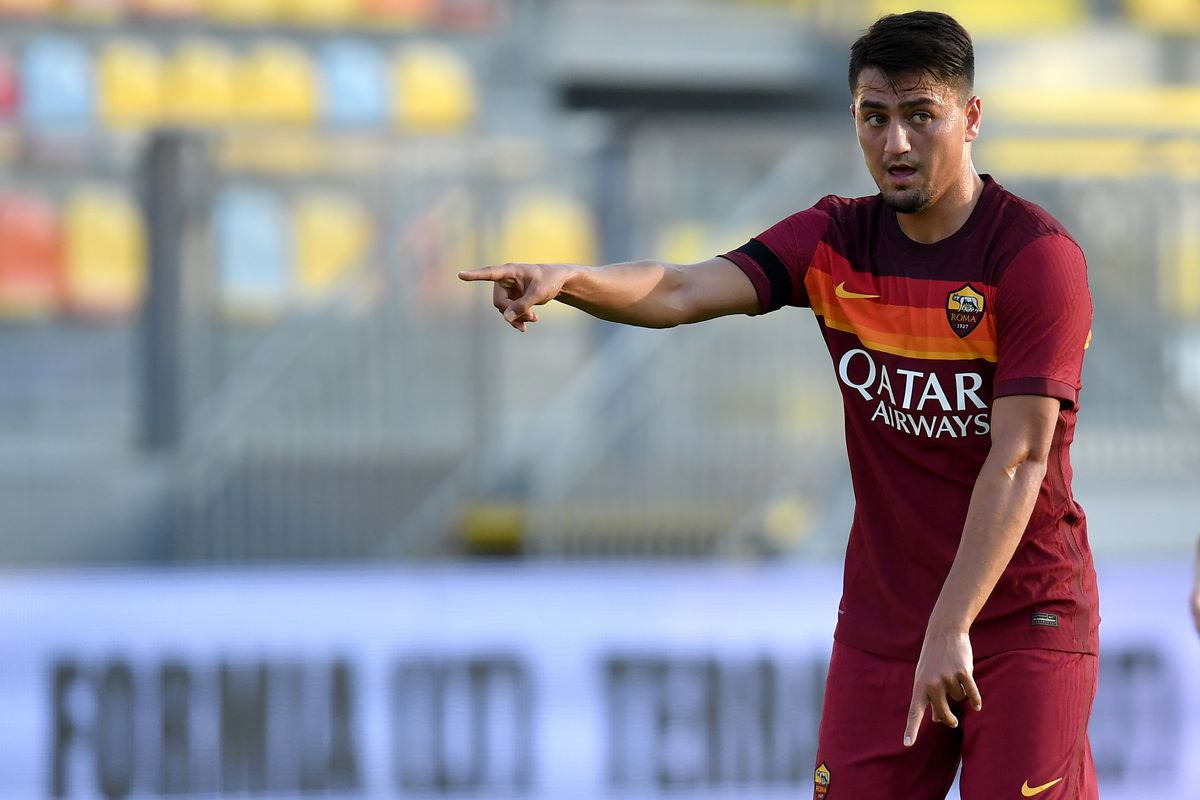 Cengiz Under of AS Roma during the friendly football match...