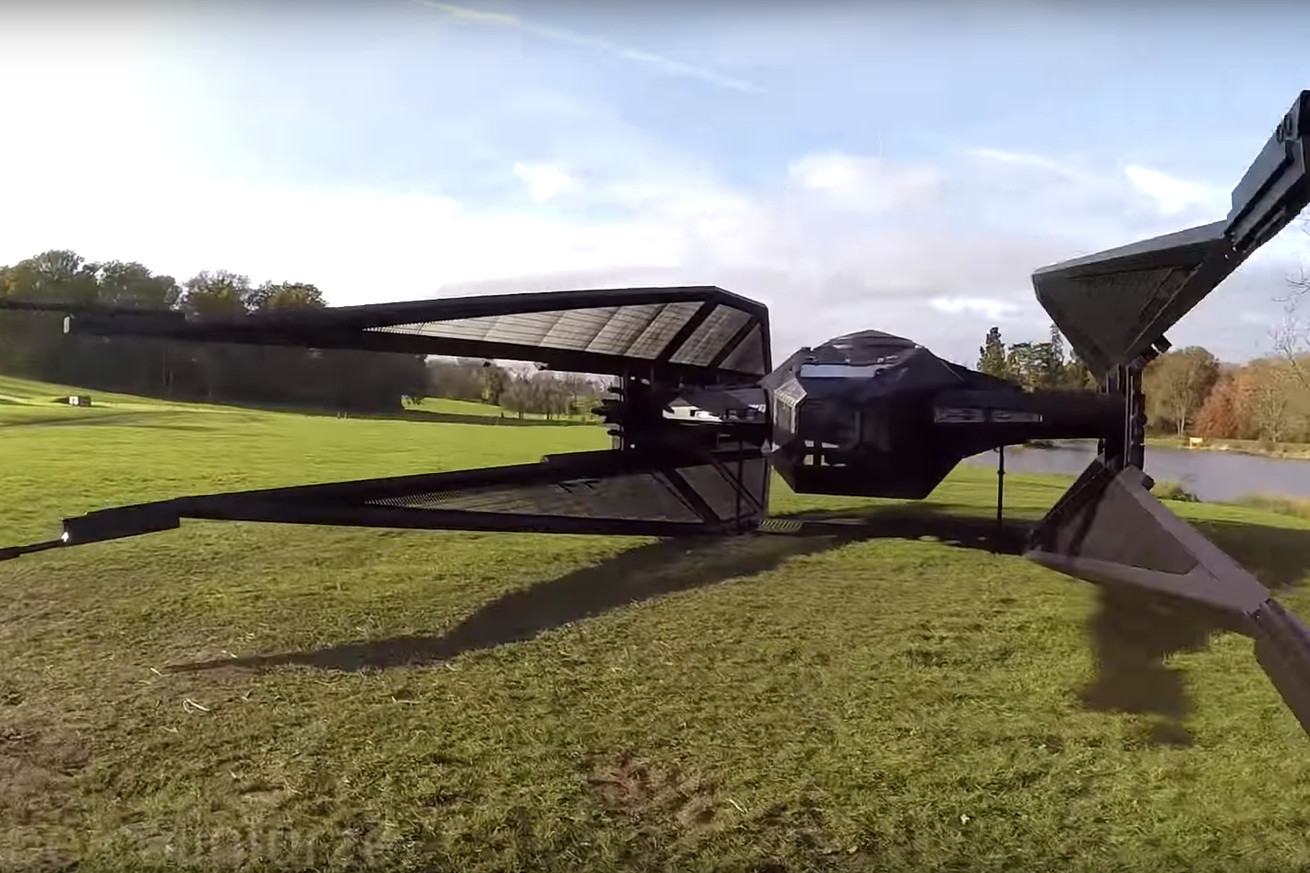 Watch Colin Furze build a life-size TIE Silencer from Star Wars: The Last Jedi