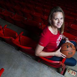 Lynne Roberts, the new Utah women's basketball coach, is pictured at the Jon M. Huntsman Center on Tuesday, July 21, 2015 in Salt Lake City.