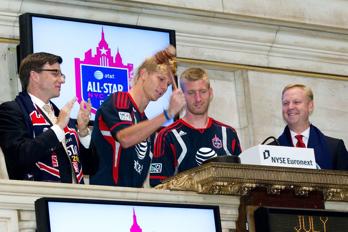 Major League Soccer Visits The New York Stock Exchange To Kick Off The 2011 AT&T MLS All-Star Game