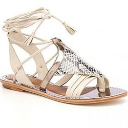 "<i> <a href=""http://www.leifsdottir.com/shoes/unto-6314148781240/"" rel=""nofollow"">Unto Sandals in Stucco</a></i>, $248"