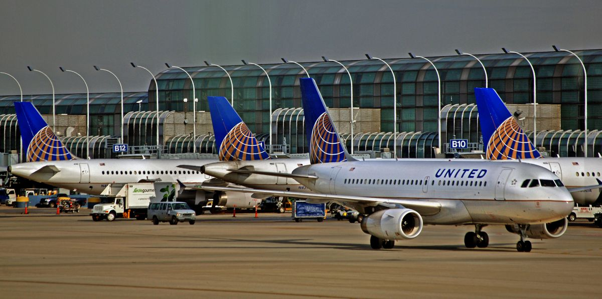 United planes at O'Hare.