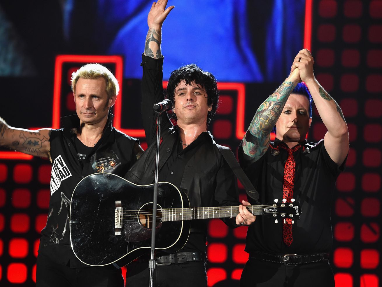 Punk rock band Green Day performs onstage during Global Citizen Festival 2017 at Central Park in New York City.