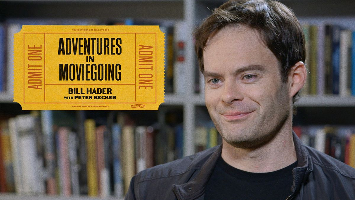 """A promotional image of Bill Hader in The Criterion Channel's """"Adventures in Moviegoing"""""""