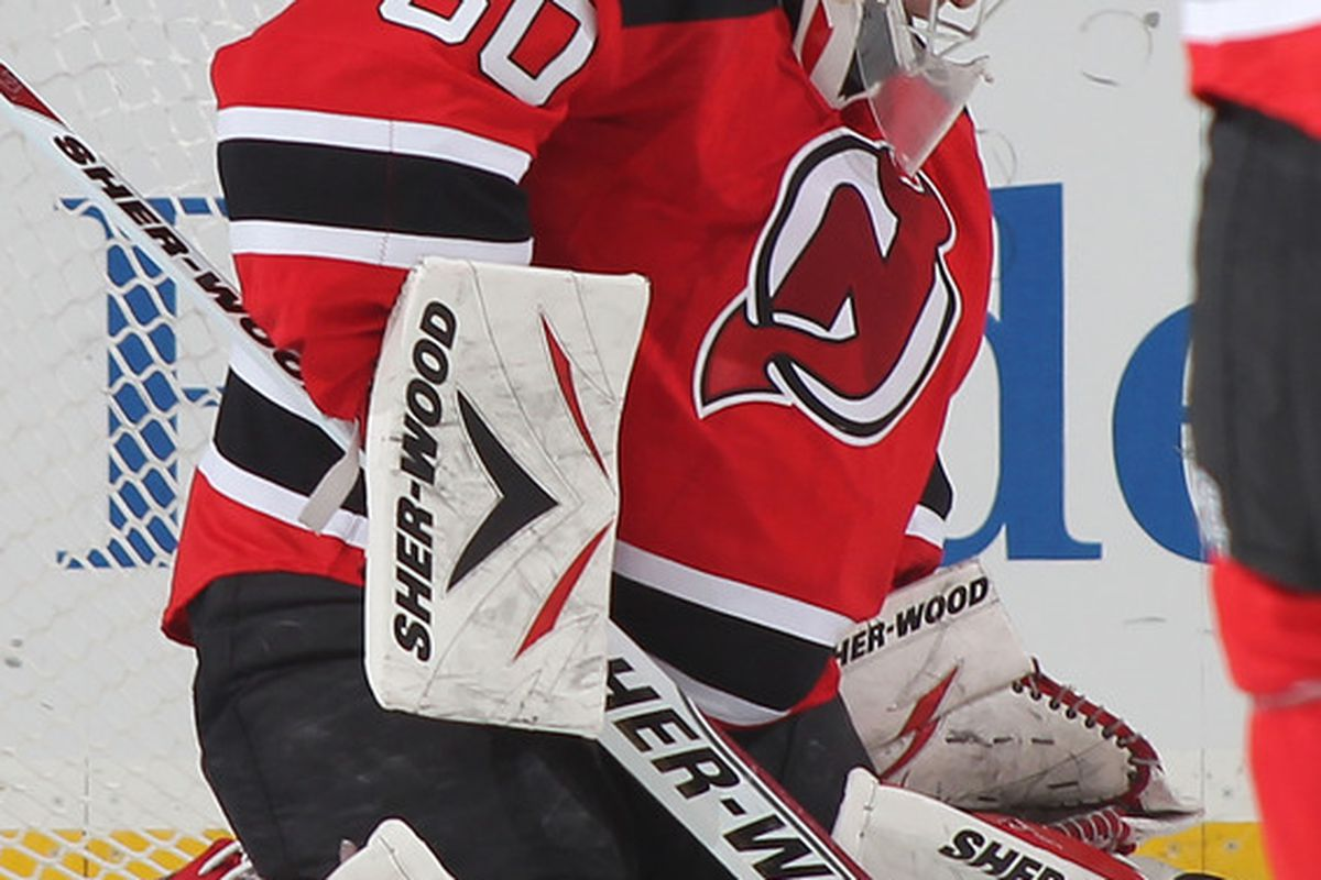Martin Brodeur will start in net tonight against Nashville. (Photo by Paul Bereswill/Getty Images)