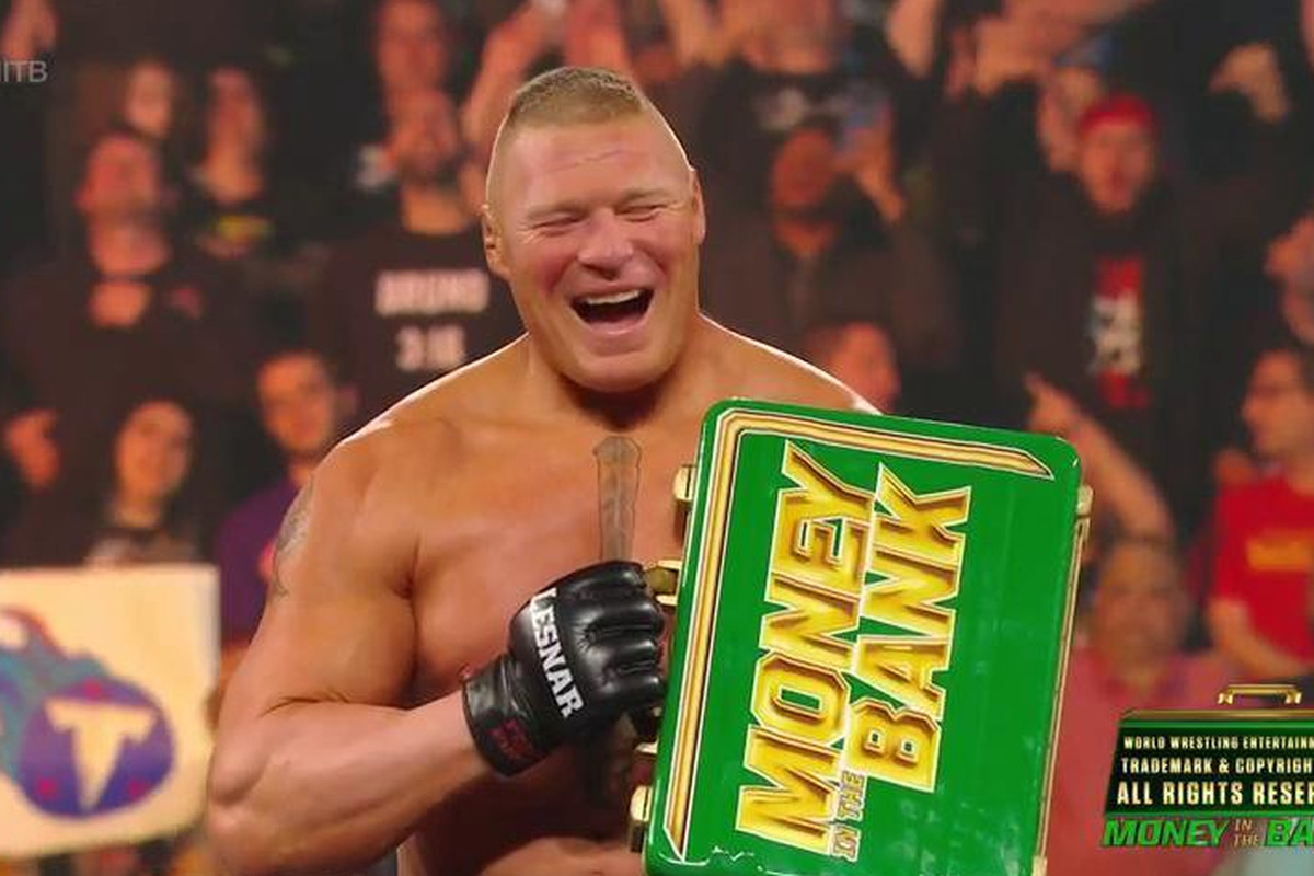 Image result for brock lesnar mitb