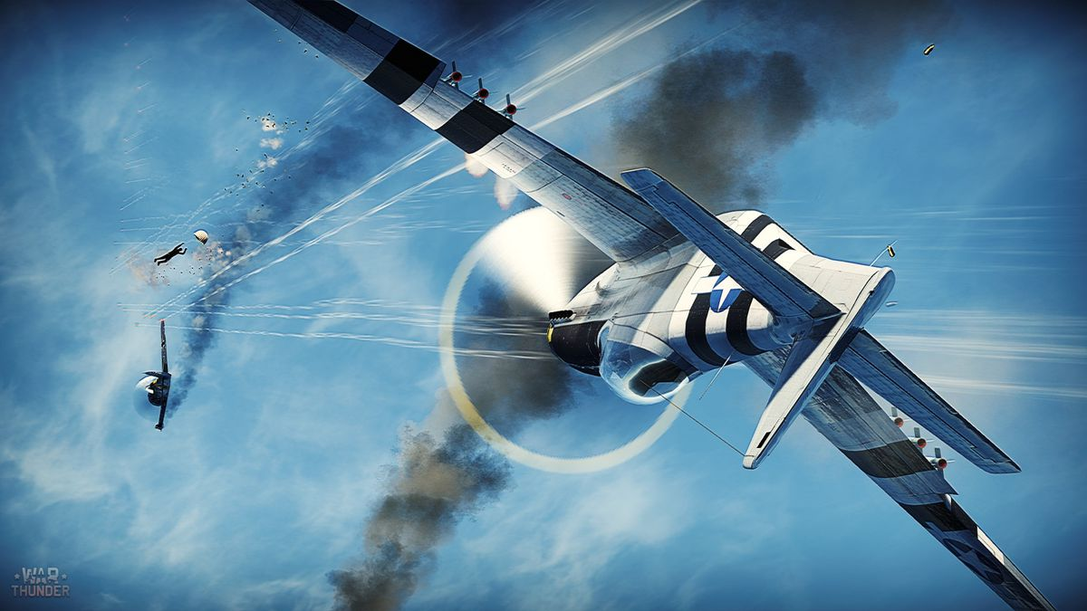 War Thunder - fighter planes in a dogfight