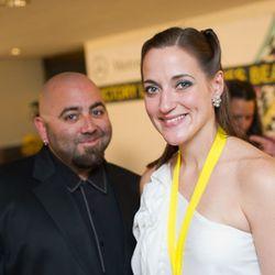 Duff Goldman and Angela Pinkerton<br /><br />photo copyright Daniel Krieger Photography LLC