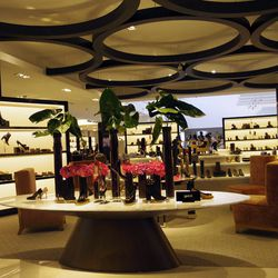 The shoe department will greet mall shoppers on the second floor.