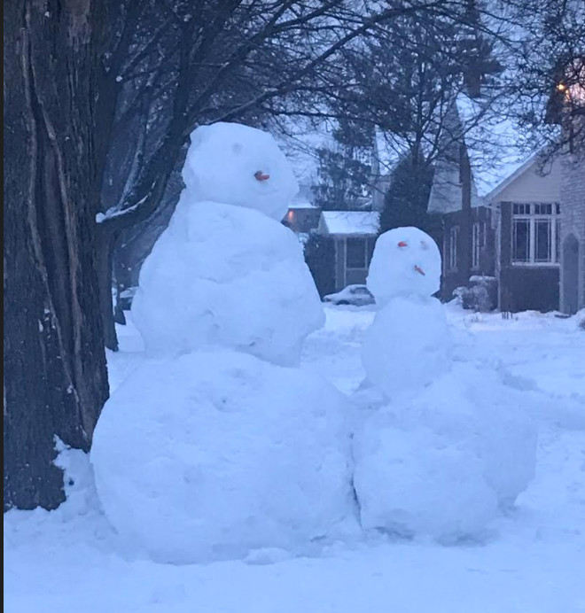 If you aren't sure of your drawing or painting skills, build a real snowman, and send in a photo.