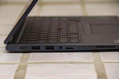 The left side of the Lenovo ThinkPad C13 Yoga Chromebook.