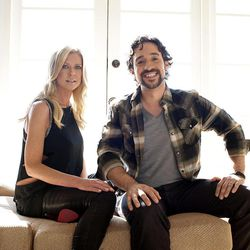 """In this March 18, 2012 photo, actress Tara Reid, left, and actor Thomas Ian Nicholas pose for a portrait during a media day for the upcoming feature film """"American Reunion"""" in Los Angeles. The film opens nationwide on Friday, April 6."""