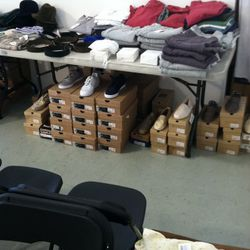 Men's sweaters and shoes
