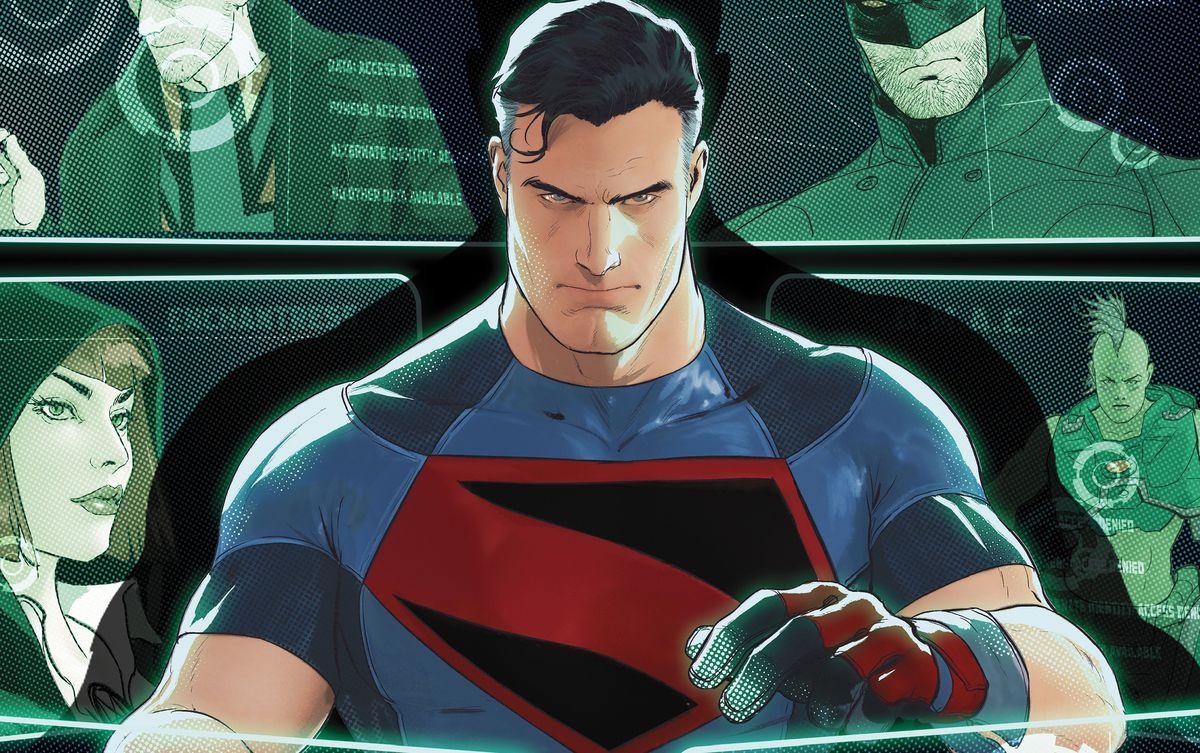 Superman uses a computer