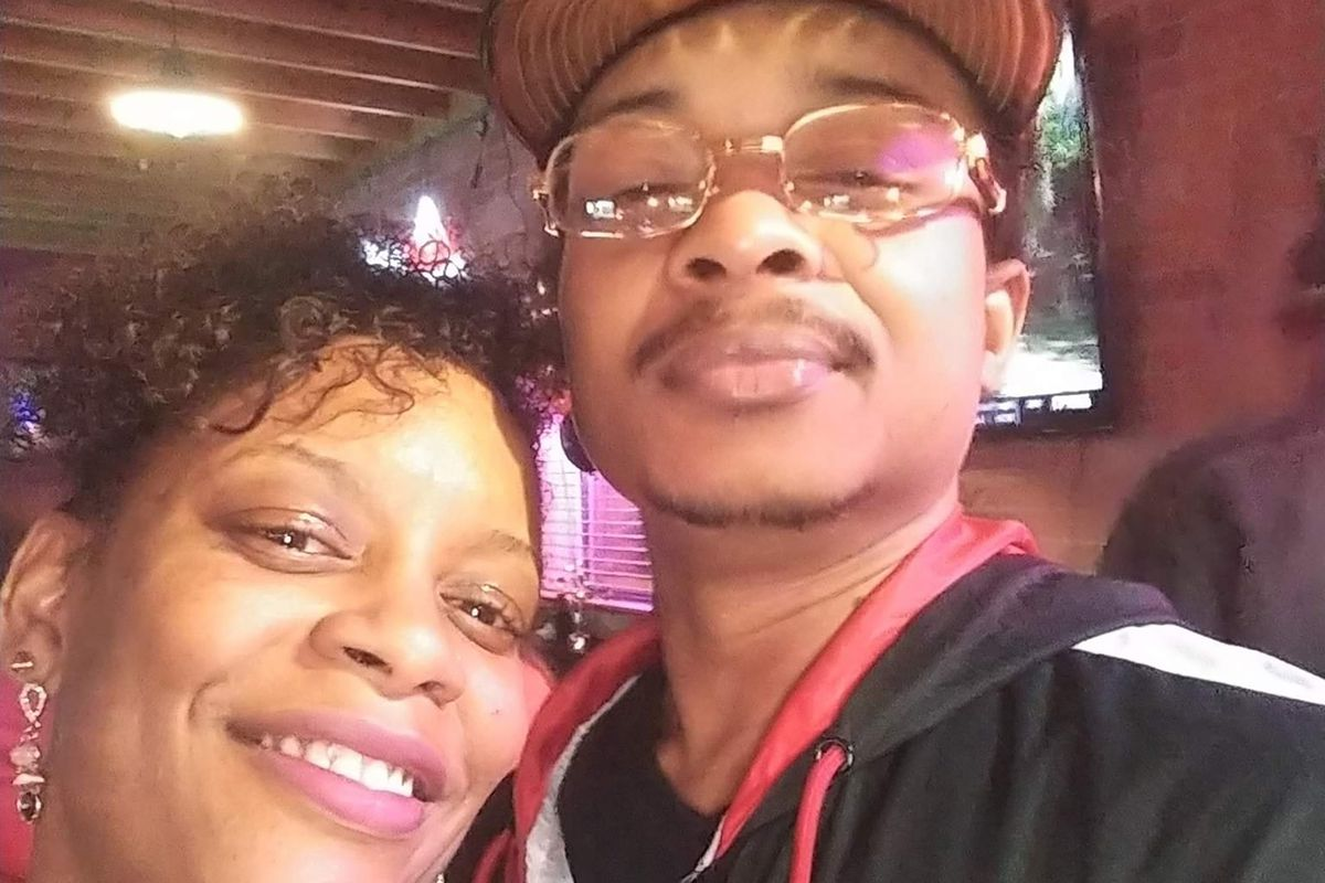 In this September 2019 file photo taken in Evanston, Ill., and provided by Adria-Joi Watkins, Watkins, left, poses in a selfie with her second cousin Jacob Blake.