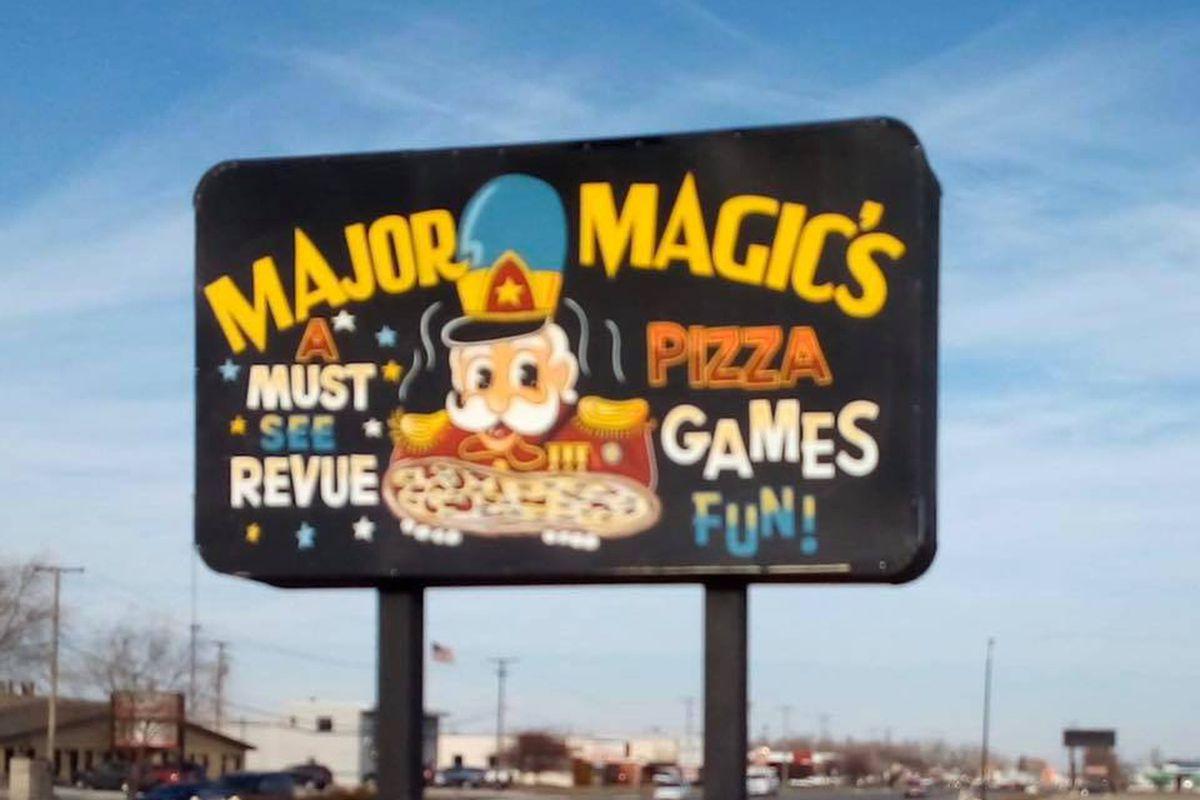 An old Major Magic's sign.