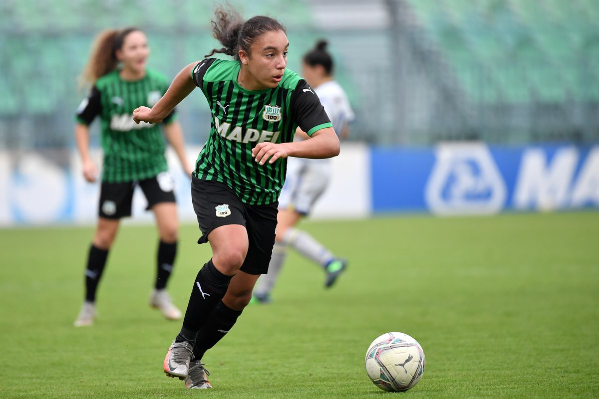 Haley Bugeja of Sassuolo in action during the women Serie A...