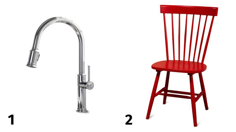 Spring 2021, Before and After Kitchen, faucet, dining chair