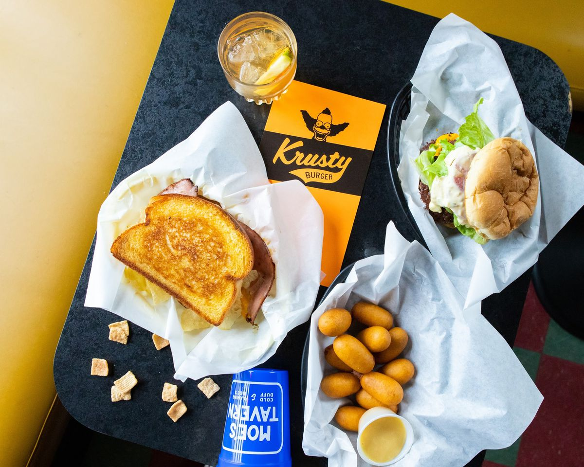 Delray Cafe's The Simpsons-themed food