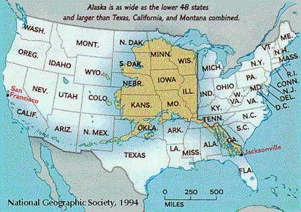 Alaska Is Big Alaskaorg Wants To Show You Exactly How Big Vox - Map-of-alaska-over-the-us