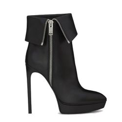 """<b>Saint Laurent</b> Classic Janis buckle ankle boot, <a href=""""http://www.ysl.com/us/shop-product/women/shoes-heel-booties-classic-janis-buckle-ankle-boot-in-black-leather_cod44551535xs.html"""">$1,095</a>"""