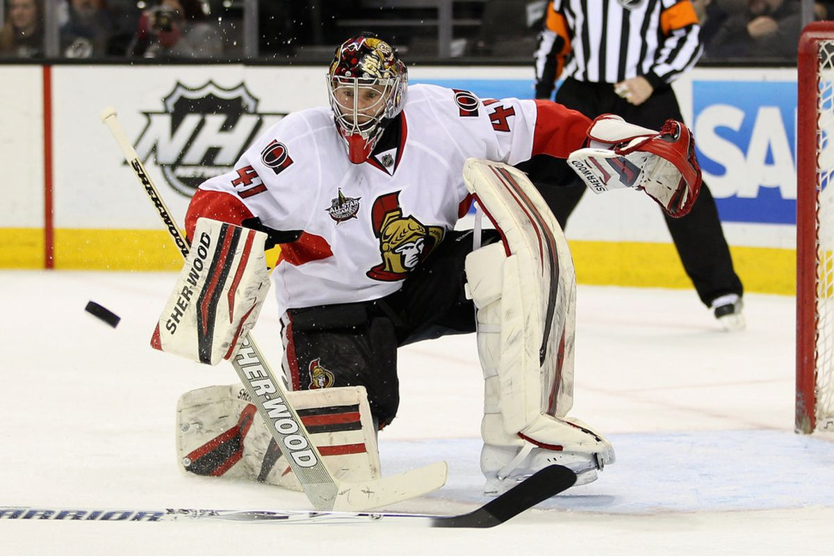 Craig Anderson is about to make one of the 1,284 saves he's already made this season.