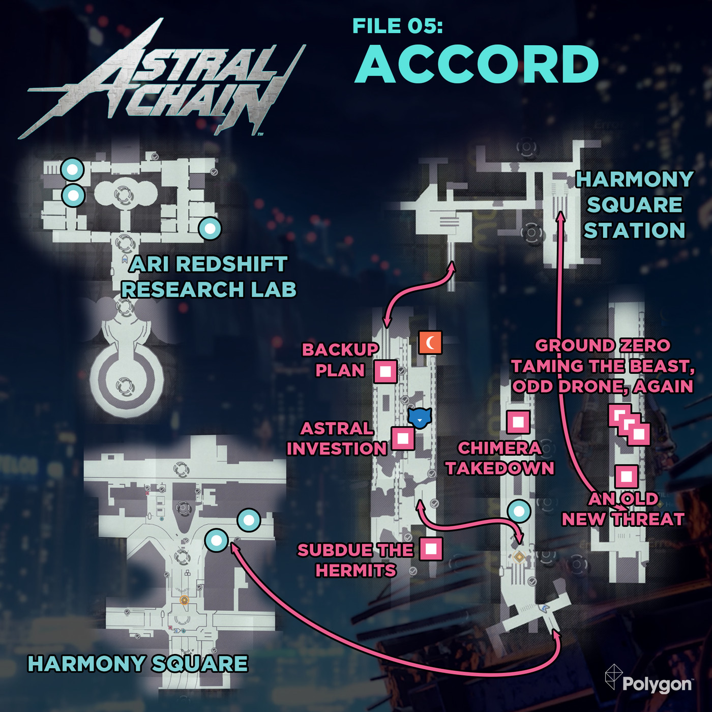 Astral Chain guide: File 05 Accord cases, cats, and bathroom