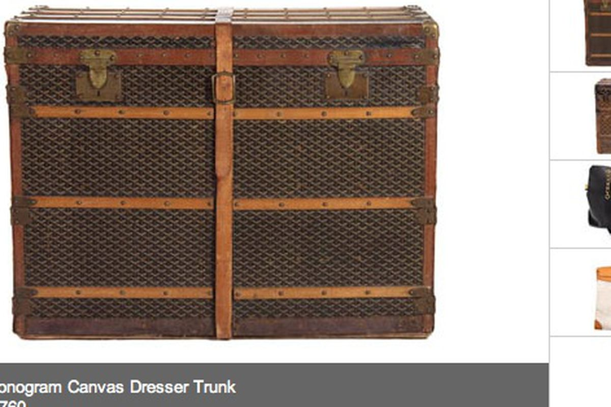 A vintage Goyard trunk from past auction highlights
