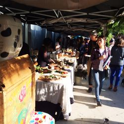 The fun wasn't just inside; an assembly line of artisanal food vendors held court outside Mack Sennett Studios.