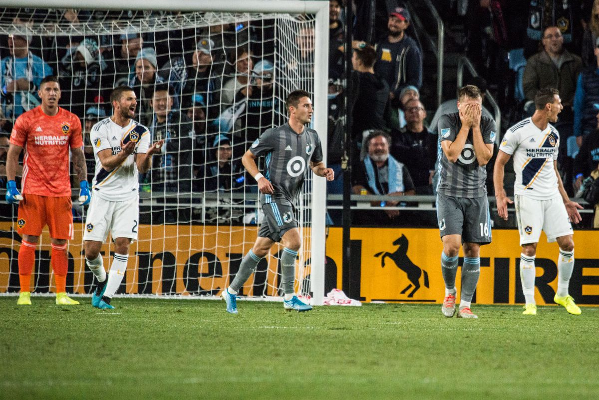 October 20, 2019 - Saint Paul, Minnesota, United States- Robin Lod shoes his disappointment after missing shot during an Audi MLS Cup Playoff match between Minnesota United and The Los Angeles Galaxy at Allianz Field (Photo: Tim C McLaughlin)
