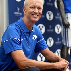 Robbie Bosco's number was retired at BYU Football Media Day at BYU Broadcasting in Provo on Friday, June 23, 2017.