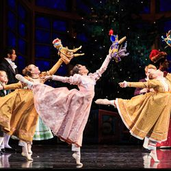 """The party scene in Ballet West's updated """"The Nutcracker,"""" which runs at Capitol Theatre through Dec. 30."""