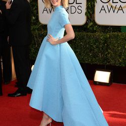 <i>Masters of Sex</i> star Caitlin FitzGerald in a powdery blue gown by Emilia Wickstead.