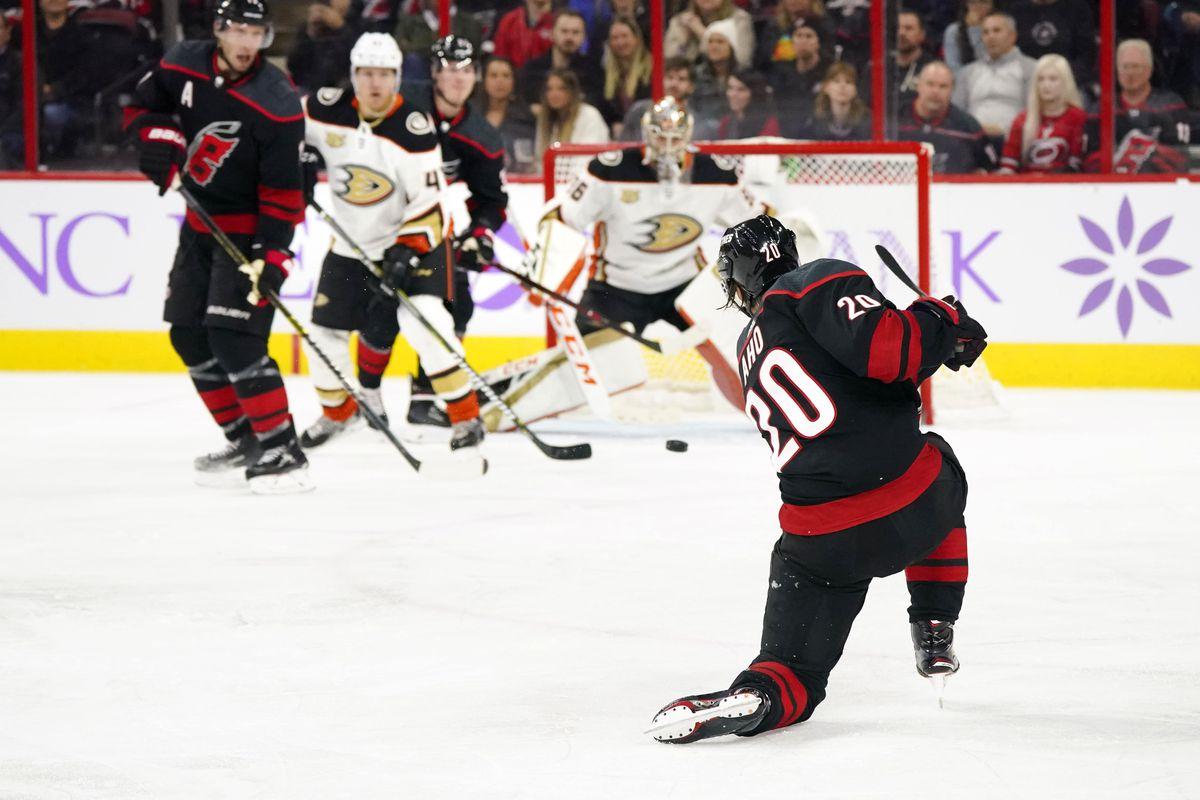 NHL: Anaheim Ducks at Carolina Hurricanes