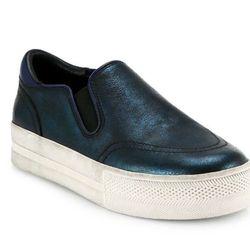 "Ash 'Jungle' metallic leather platform sneakers, <a href=""http://www.saksfifthavenue.com/main/ProductDetail.jsp?FOLDER%3C%3Efolder_id=2534374306561744&PRODUCT%3C%3Eprd_id=845524446710542&R=888682007926&P_name=Ash&N=306561744&bmUID=kxInSud"">$175</a> at Sak"