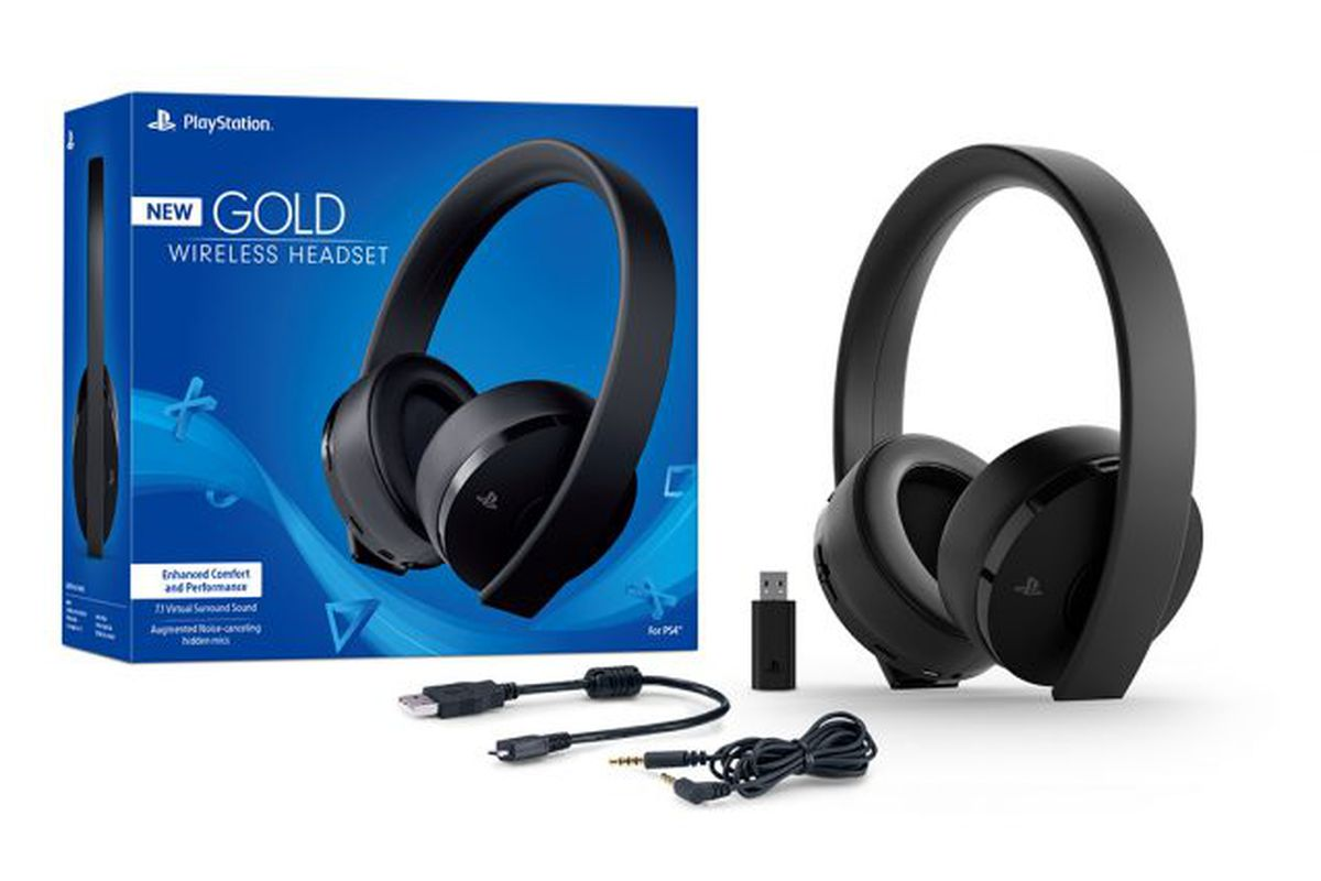 Gold Wireless Headset Announced for PS4 and PS VR