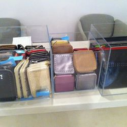 Check out the iPad cases and sleeves next to the wallets and jewelry cases