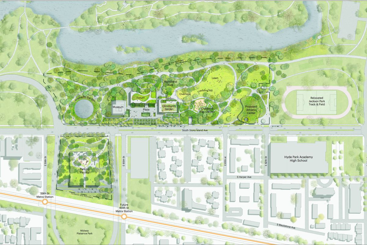 Obama Center scraps above-ground parking garage after neighborhood opposition