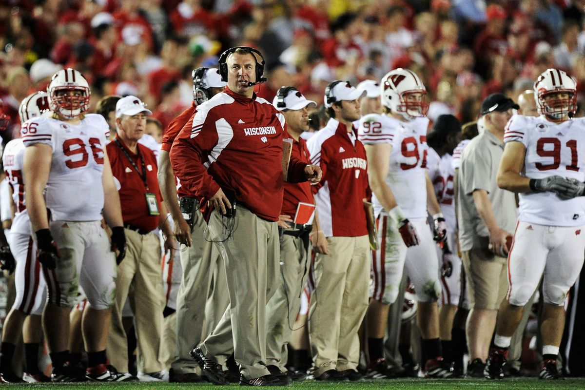 Wisconsin head coach Bret Bielema is in favor of keeping the eight-game conference schedule, with some of those games taking place in September before the non-conference schedule is finished.