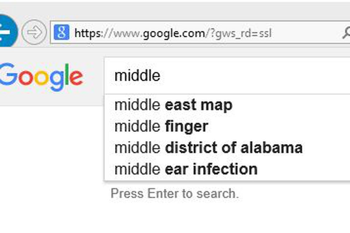 """This is what Google thinks (or doesn't think) of """"Middle Tennesse State""""."""