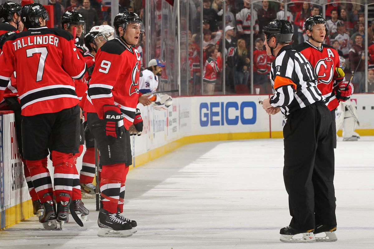 Let's not have it come to the referee's/Toronto's hands, please, Devils?. (Photo by Al Bello/Getty Images)