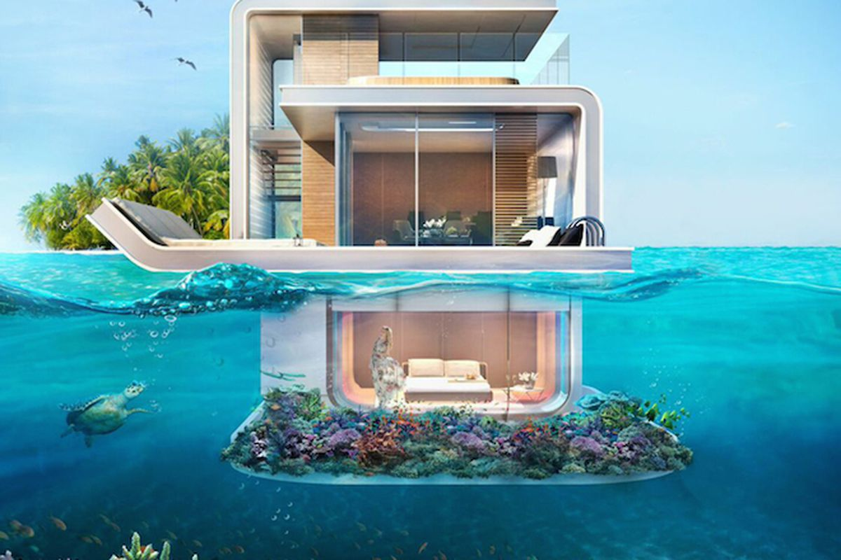 """Image via <a href=""""http://www.designboom.com/technology/floating-seahorse-contemporary-boat-underwater-rooms-marine-life-05-09-2015/"""">Designboom</a>"""