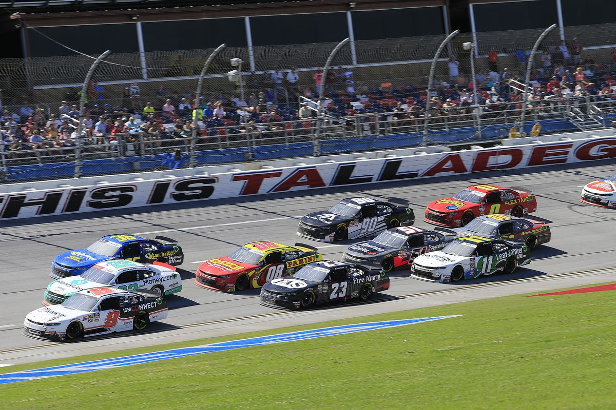 General race action during the NASCAR Xfinity Series MoneyLion 300 race on April 27, 2019 at the Talladega Superspeedway in Talladega, AL.
