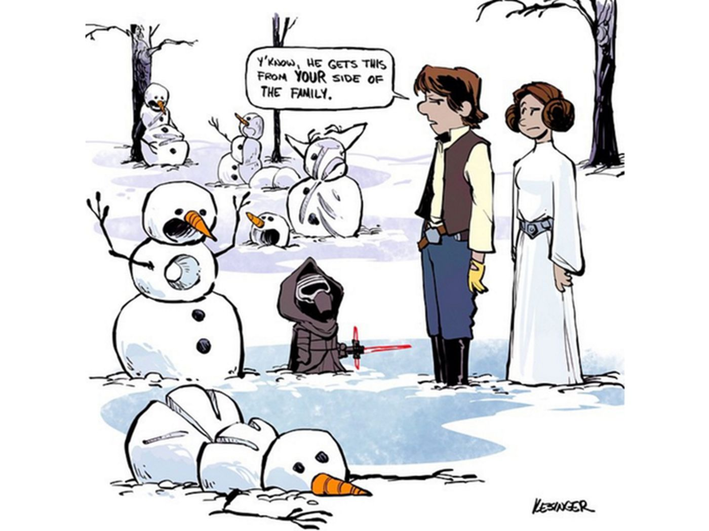 The Force Awakens Meets Calvin And Hobbes Hearts Melt The Verge