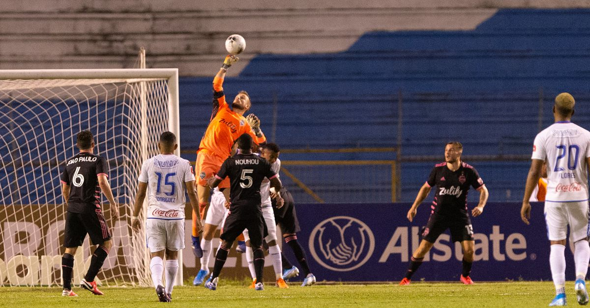 Stefan Frei shows off scrapes that should have left Olimpia down a man