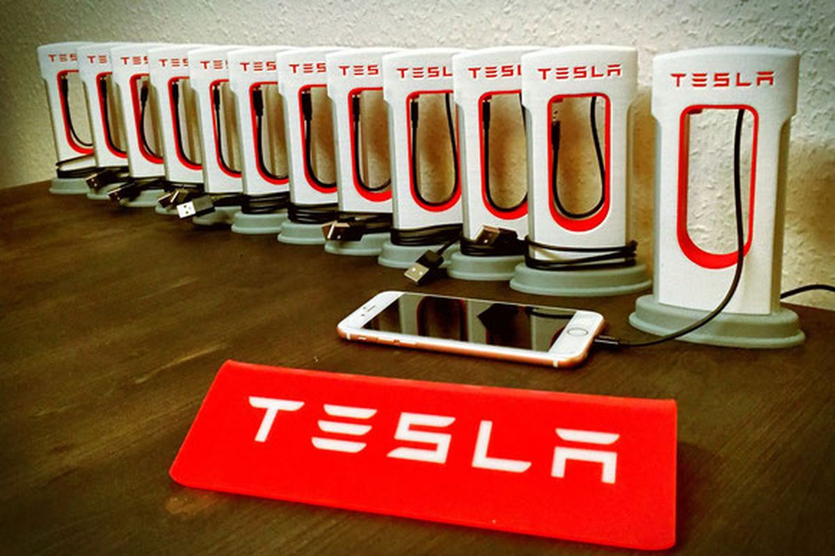 Tesla Fans Can Now Print A Supercharger Station For Their Phones