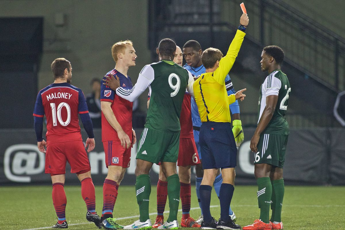 """Larentowicz gives Fochive the standard """"Dude, not cool"""" talk as the Timbers midfielder gets his walking papers."""